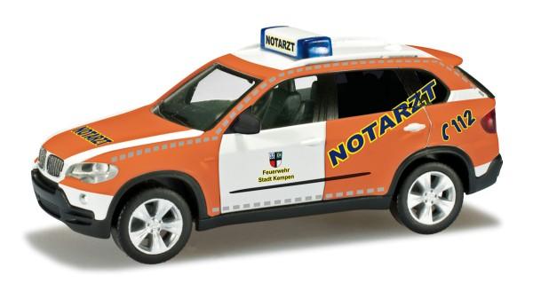"""herpa 090568 - BMW X5™ (E70) Notarzt """"Feuerwehr Kempen"""" - 1:87"""