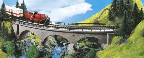 Kibri 39723 (9723) - Steinbogenbrücke eingleisig Radius 2 - H0