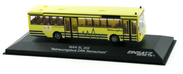 Rietze 72125 - MAN SL 202 Betreuungsbus DRK Remscheid - 1:87 - Einsatzserie
