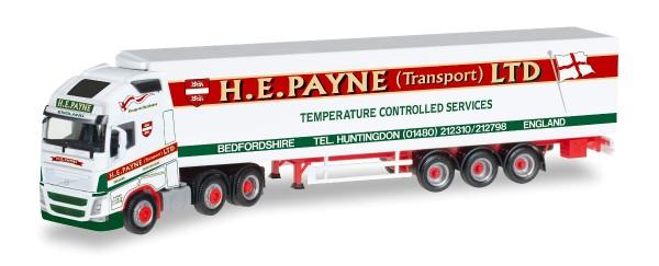 "Herpa 306164 - Volvo FH Gl. XL 6x2 Kühlkoffer-Hängerzug ""H.E.Payne"" (GB) - 1:87"