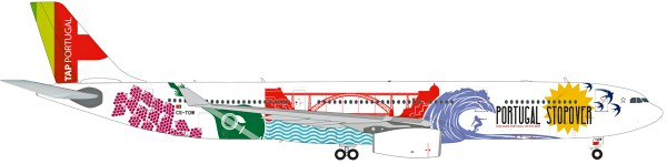 """Herpa Wings 558945 - TAP Portugal Airbus A330-300 """"Portugal Stopover"""" - CS-TOW - 1:200"""