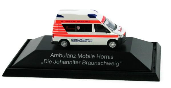Rietze 53408 - Ambulanz Mobile Hornis Silver Die Johanniter Braunschweig, - 1:87 - Einsatzserie
