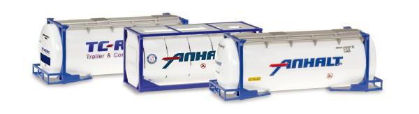 Herpa 076500-004 - Tankcontainer-Set Inhalt: 3 Stück - 1:87