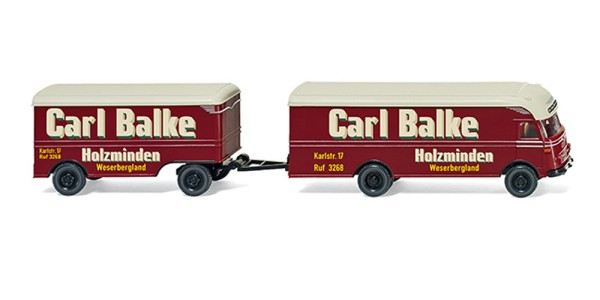 "Wiking 054002 - Möbelkofferzug (Ackermann) ""Carl Balke"" - 1:87"
