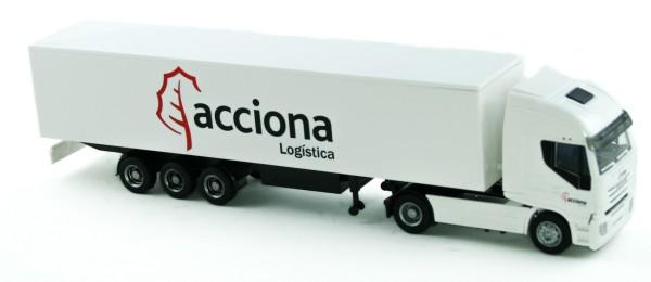 Rietze 60891 - Iveco Stralis Sattelzug Acciona Logistica (ES) - 1:87