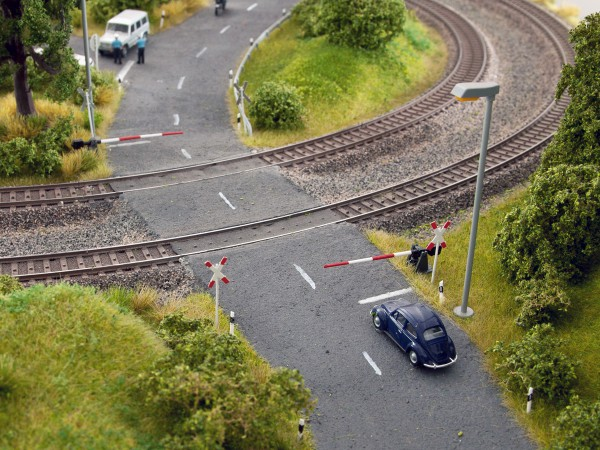 NOCH 14307 - Bahnschranken mit Andreaskreuzen - H0