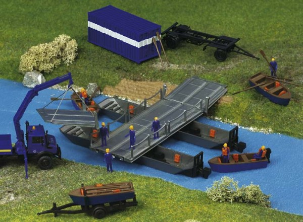 Kibri 38135 (8135) - THW Pontons mit Arbeitsbrücke - H0