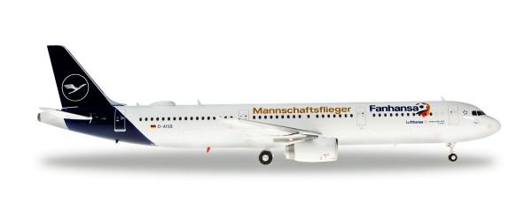 """Herpa Wings 559416 - Lufthansa Airbus A321 """"Fanhansa Mannschaftsflieger"""" - D-AISQ """"Lindau"""" - 1:200"""