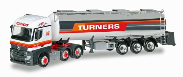"""Herpa 306720 - Mercedes-Benz Actros Streamspace Chromtank-Sattelzug """"Turners"""" (GB) - 1:87"""
