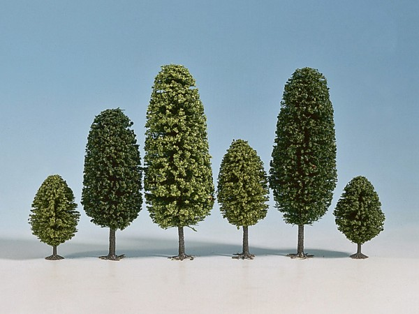 NOCH 32501 - Hobby Laubbäume, 25 Stück, 4 - 6,5 cm hoch - N / Z