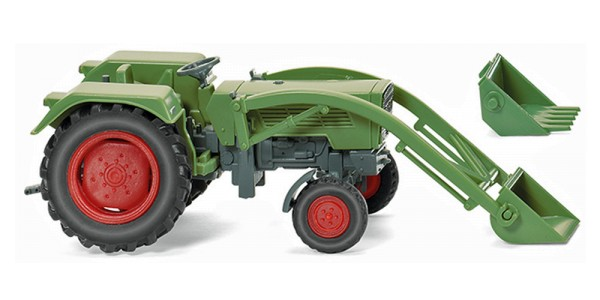 Wiking 089003 - Fendt Farmer 2S mit Frontlader - resedagrün - 1:87