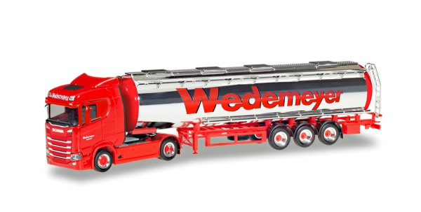 "Herpa 310079 - Scania CS 20 Niederdach Chromtank-Sattelzug ""Wedemeyer"" - 1:87"