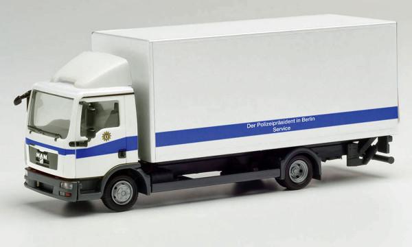 """Herpa 095648 - MAN TGL Koffer-LKW mit Ladebordwand """"Polizei Berlin"""" - 1:87"""