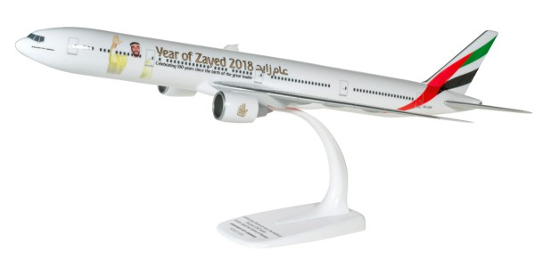"Herpa Wings 611985 - Emirates Boeing 777-300ER ""Year of Zayed"" - 1:200 - Snap-Fit"