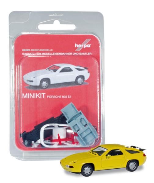 Herpa 012669-004 - Herpa MiniKit: Porsche 928 S4, gelb - 1:87