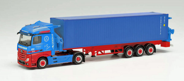 "Herpa 313919 - Mercedes-Benz Actros Container-Seitenlader ""Frankenbach"" - 1:87"
