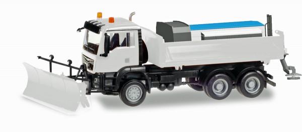Herpa 013079 - Herpa MiniKit: MAN TGS M 6x6 Winterdienstfahrzeug, weiß - 1:87
