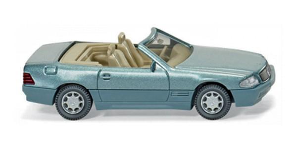 Wiking 0142 03 - MB 500 SL Cabrio offen - beryll metallic - H0