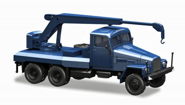 Herpa 308106 - IFA G5 Kranfahrzeug, blau - 1:87