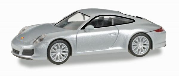 Herpa 038638 - Porsche 911 Carrera 4S, rhodiumsilber metallic - 1:87 - NEUHEUT 2016