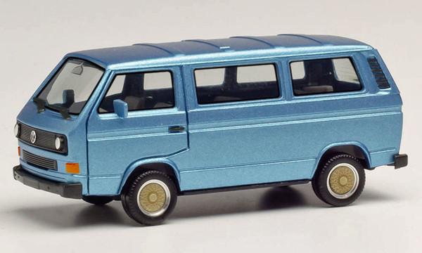 Herpa 430876 - VW T3 Bus mit BBS-Felgen, blaumetallic - 1:87
