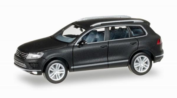 herpa 027670 - VW Touareg, mattschwarz mit Chromfelgen - 1:87
