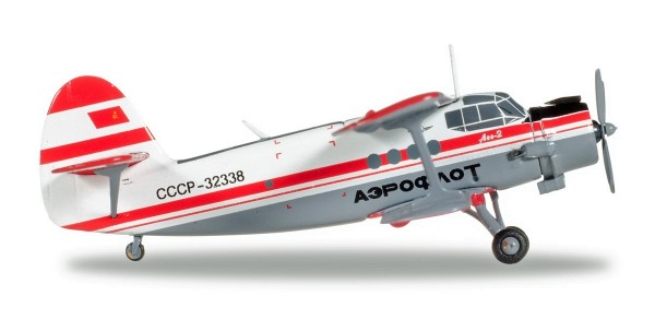 Herpa Wings 558587 - Aeroflot Polar Aviation Antonov AN-2 - CCCP-32338 - 1:200