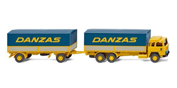 "Wiking 047501 - Pritschenhängerzug (Magirus 235 D) ""Danzas"" - 1:87"
