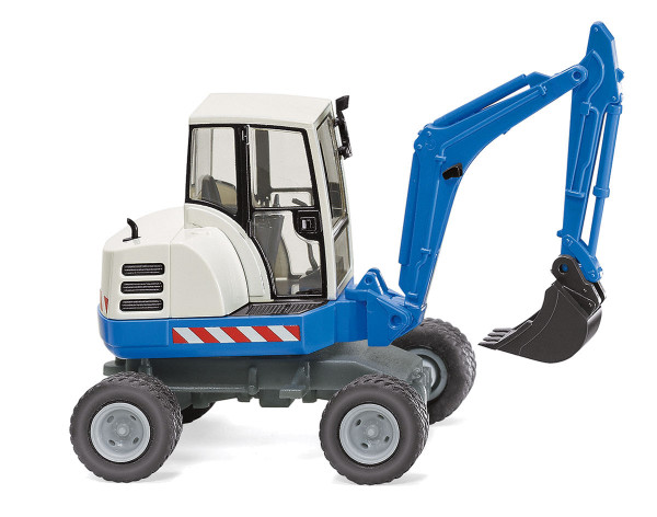 Wiking 065807 - Mini-Bagger - blau - 1:87