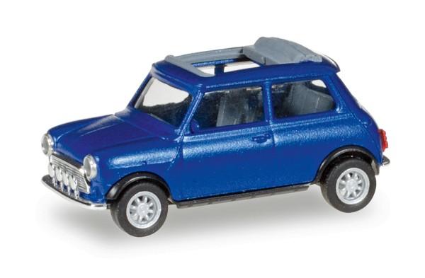 Herpa 038591 - Mini Cooper, blaumetallic (Mit Rolldach und Zusatzscheinwerfern) - 1:87