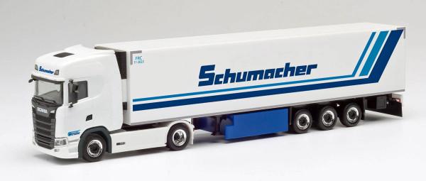 """Herpa 311670 - Scania CS 20 HD Kühlkoffer-Sattelzug """"Schumacher"""" - 1:87"""