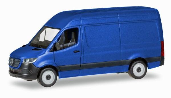 Herpa 093811 - Mercedes-Benz Sprinter `18 Kasten Hochdach, ultramarinblau - 1:87