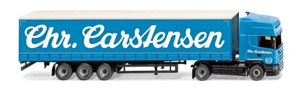"""Wiking 053709 - Gardinenplanensattelzug (Scania R420 Topline) """"Sped. Chr. Carstensen"""" - 1:87"""