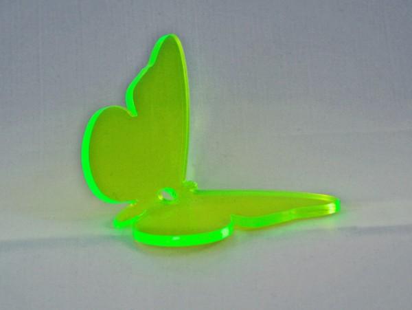 Lichtzauber Sonnenfänger - Schmetterling klein, Ø 10 cm, grün, gebogen (Elliot 1019441)