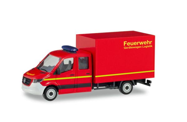 """Herpa 094009 - Mercedes-Benz Sprinter `18 neue Doppelkabine mit Koffer """"Feuerwehr"""" - 1:87"""