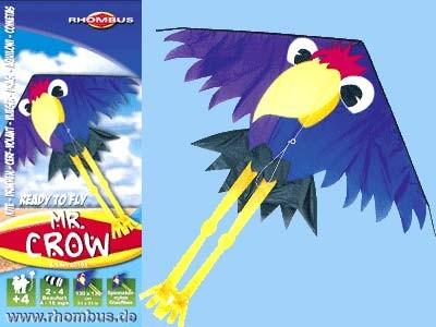 Rhombus Kinderdrachen Mr. Crow - 130 x 130 cm