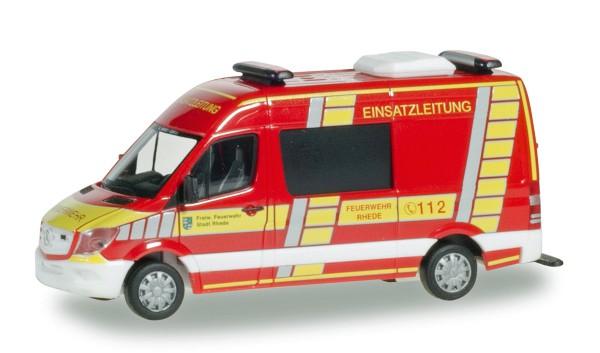 """Herpa 093620 - Mercedes-Benz Sprinter Halbbus """"Feuerwehr Rhede Einsatzleitung"""" - 1:87"""