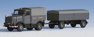 Kibri 13560 - KAELBLE mit Plane und Anhänger - H0