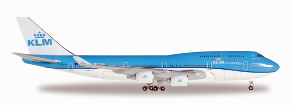 "Herpa Wings 529921-001 - KLM Boeing 747-400 ""City of Nairobi"" - PH-BFN - 1:500"