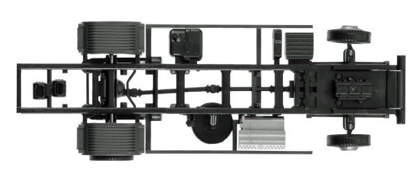 Herpa 084499 - Fahrgestell Mercedes-Benz Atego LKW 7,5 t für Ladebordwand Inhalt: 2 Stück - 1:87