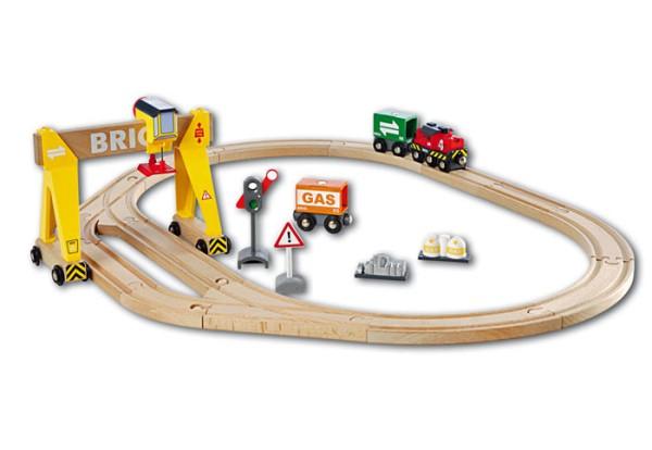 BRIO Bahn Set Kran mit Frachten