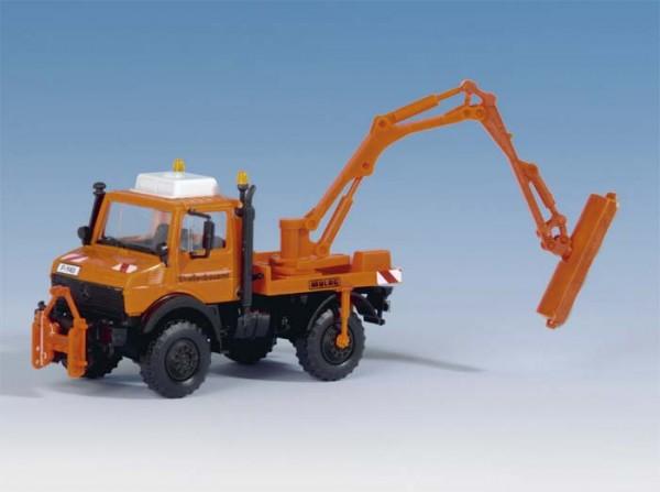Kibri 15004 - Unimog mit Lichtraumschneidgerät - H0