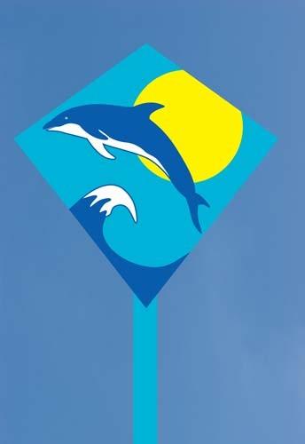 Mini-Eddy Dolphin Sunrise, Kinderdrachen von Invento-HQ (30 x 30 cm) - R2F