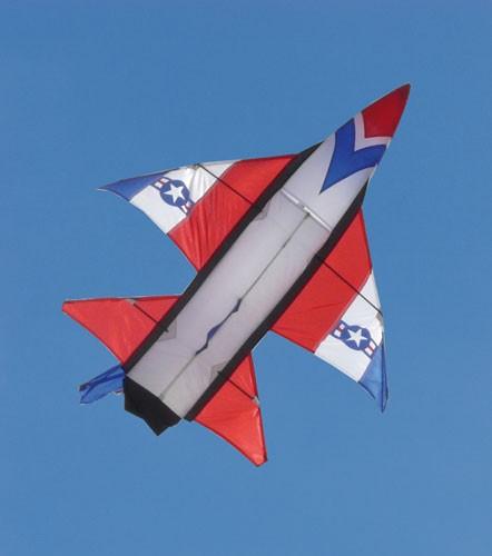 F-16 Jet Kite 3D (SK) - Lenkdrachen von Invento-HQ (115 x 126 cm) - R2F