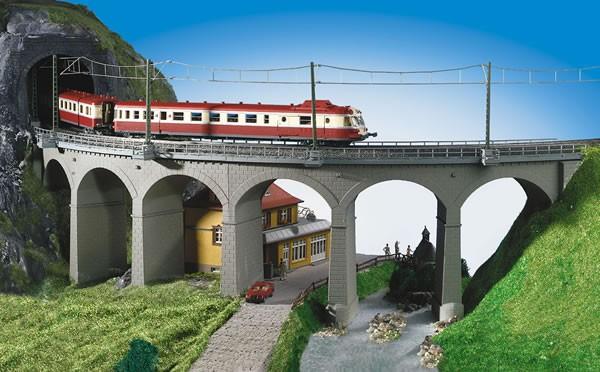 Kibri 39725 (9725) - Riedberg - Viadukt eingleisig Radius 1 - H0