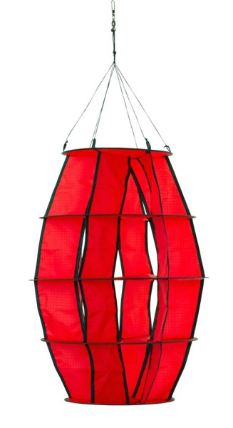 "Invento-HQ Windspiel Hoffmanns Lampion ""XS"" Red (34 x 65 cm)"