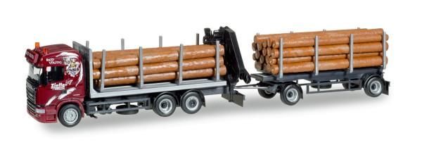 "Herpa 307840 - Scania R HL Holztransporter-Hängerzug ""Ziefle Transporte"" - 1:87"