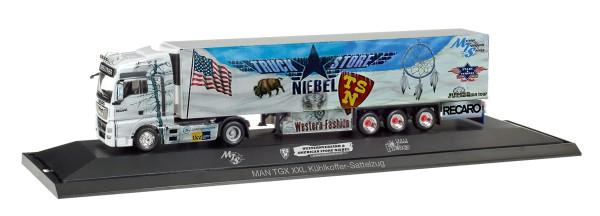 "Herpa 121781 - MAN TGX XXL Kühlkoffer-Sattelzug ""Truck Store Niebel / Sped. Meixner"" - 1:87"