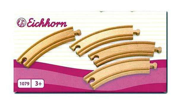 Eichhorn 1079 - Kurvenschienen, groß - 4 Stück