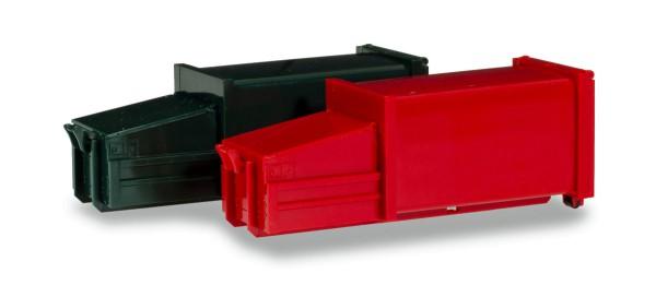 Herpa 076876 - Zubehör 2 Pressmüllcontainer, grün und rot - 1:87